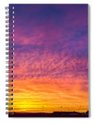 December Nebraska Sunset 004 Spiral Notebook