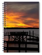 December Sunset Spiral Notebook