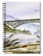 Deception Pass Bridge Spiral Notebook