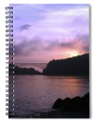 Deception Pass Sunrise Spiral Notebook