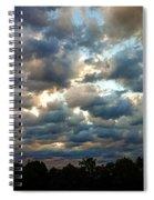 Deceptive Clouds Spiral Notebook
