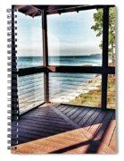 Deck With Ocean View Spiral Notebook