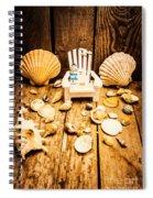 Deckchairs And Seashells Spiral Notebook