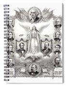 Declaration Of Independence 1884 Poster Restored Spiral Notebook