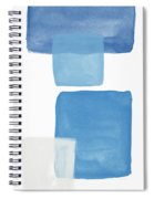 Deconstructed Blue Gingham 1- Art By Linda Woods Spiral Notebook