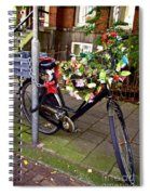 Decorated Bicycle. Amsterdam. Netherlands. Europe Spiral Notebook