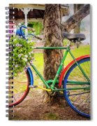 Decorated Bicycle In The Park Spiral Notebook
