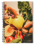 Decorated Organic Vegetables Spiral Notebook