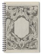 Decorative Design With Angels, Carel Adolph Lion Cachet, 1874 - 1945 Spiral Notebook