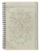 Decorative Design With Crowned W, Carel Adolph Lion Cachet, 1874 - 1945 Spiral Notebook