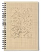 Decorative Design With Eight Seated Women, Carel Adolph Lion Cachet, 1874 - 1945 Spiral Notebook
