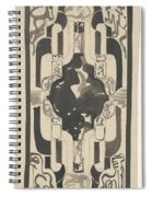 Decorative Design With Four Coats Of Arms, Carel Adolph Lion Cachet, 1874 - 1945 Spiral Notebook