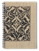 Decorative Design With Mask, Carel Adolph Lion Cachet, 1874 - 1945 Spiral Notebook
