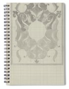Decorative Design With Stylized Lions, Carel Adolph Lion Cachet, 1874 - 1945 Spiral Notebook