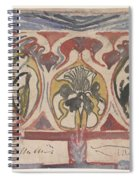 Decorative Design With Two Signatures, Carel Adolph Lion Cachet, 1874 - 1945 Spiral Notebook