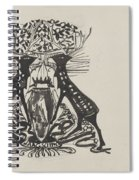 Decorative Design With Two Standing Deer, Carel Adolph Lion Cachet, 1874 - 1945 Spiral Notebook