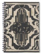 Decorative Design With Two Stylized Lions, Carel Adolph Lion Cachet, 1874 - 1945 Spiral Notebook