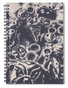 Decorative Dog Design Spiral Notebook