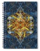 Decorative Gemstone Sacred Geometry Flower Of Life   Spiral Notebook