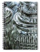 Decorative Glass Jars Spiral Notebook