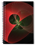 Decorative Globe Of Red Spiral Notebook