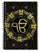 Decorative Gold Ek Onkar / Ik Onkar  Symbol Spiral Notebook