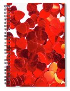 Decorative Heart Background Spiral Notebook
