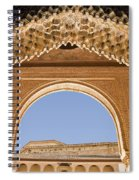 Decorative Moorish Architecture In The Nasrid Palaces At The Alhambra Granada Spain Spiral Notebook