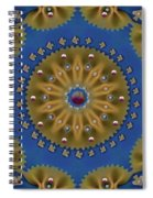 Decorative Pasta Collage Spiral Notebook