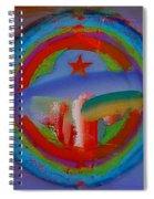 Deep Blue Decal Spiral Notebook