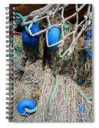 Deep Blue Discs Spiral Notebook