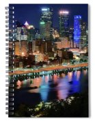 Deep Blue Night In Pittsburgh Spiral Notebook