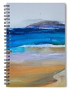 Deep Blue Sea And Golden Sand Spiral Notebook