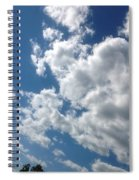 Deep Blue With Lovely Clouds Spiral Notebook