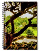 Deep Cuts Gazebo Between The Tree Branches Spiral Notebook