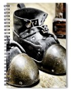 Deep Diver Boots Hdr And Vintage Process Spiral Notebook