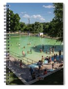 Deep Eddy Pool Is A Family Friendly, Family Fun, Public Swimming Pool In Austin, Texas Spiral Notebook