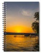 Deep Orange Sunset Over Keuka Lake Spiral Notebook