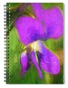 Deep Purple - Wildflower Art Spiral Notebook