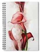 Deep Red Callas Spiral Notebook