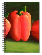 Deep Red Peppers Spiral Notebook