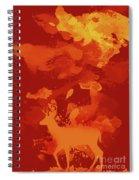 Deer Art Evening Spiral Notebook