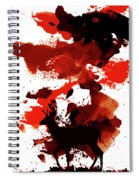 Deer Art Night Spiral Notebook
