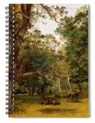 Deer At The Edge Of A Wood Spiral Notebook
