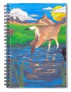 Deer Blessing Spiral Notebook