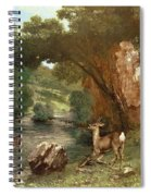 Deer By A River Spiral Notebook