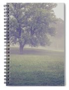 Deer By Barn On A Foggy Morning Spiral Notebook