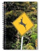 Deer Crossing Sign 2 Spiral Notebook