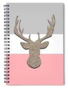Deer Head Silhouette Spiral Notebook