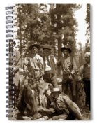 Deer Hunters  With Rifles Circa 1917 Spiral Notebook